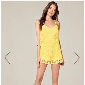 Bebe yellow lace romper